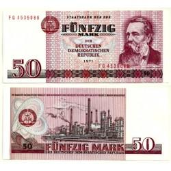 (30b) Alemania Democrática. 1971. 50 Mark (SC)