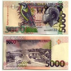 (65b) Santo Tomé y Principe. 1996. 5000 Dobras (SC)