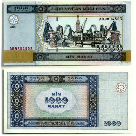 (23) Azerbaiyan. 2001. 1000 Manat (SC)