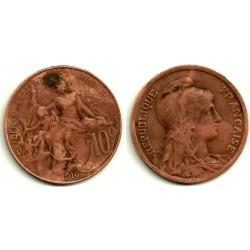 (843) Francia. 1916. 10 Centimes (BC)
