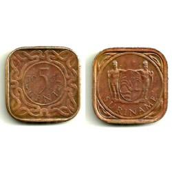 (12.1) Surinam. 1962. 5 Cents (MBC)