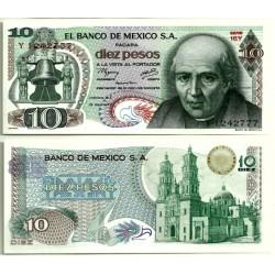 (63i) Estados Unidos Mexicanos. 1977. 10 Pesos (SC)