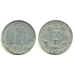 (10) Alemania Democrática. 1968(A). 10 Pfennig (BC)