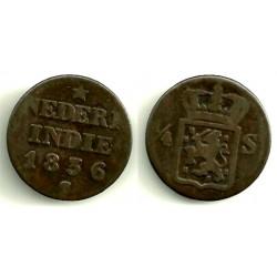 (287) Indias Holandesas. 1836S. ¼ Stuiver (BC)
