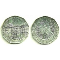 Austria. 2006. 5 Euro (SC) (Plata) Presidencia UE