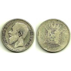 (30.1) Bélgica. 1867. 2 Francs (RC+)