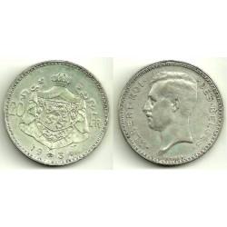 Bélgica. 1934. 20 Francs (MBC) (Plata)