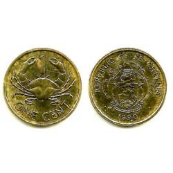 (46.2) Seychelles. 1990. 1 Cent (EBC+)
