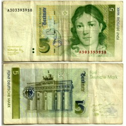 (37) Alemania. 1991. 5 Mark (BC+)