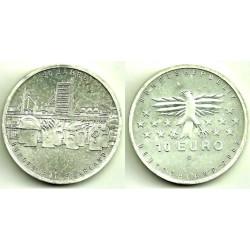 Alemania. 2007(G). 10 Euro (SC) (Plata)