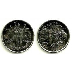 (46.3) Etiopia. 2004(1996). 25 Cents (EBC+)