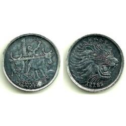 (43.1) Etiopia. 1977(1969). 1 Cent (MBC+)