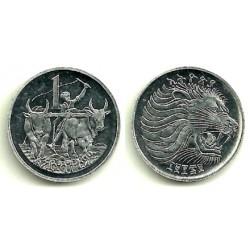 (43.2) Etiopía. 1977(1969). 1 Cent (MBC+)