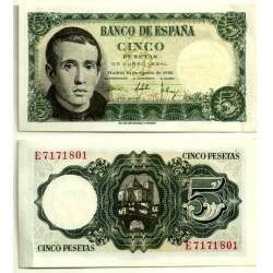 [1951] Billete de 5 Pesetas (EBC+) Serie E