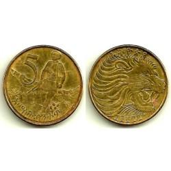 (44.3) Etiopia. 2004(1996). 5 Cents (MBC-)