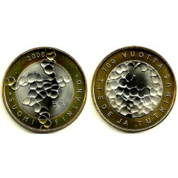 Finlandia. 2008. 5 Euro (SC)