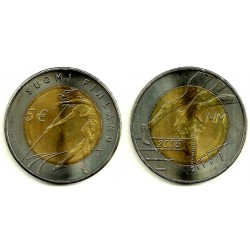 Finlandia. 2005. 5 Euro (SC)