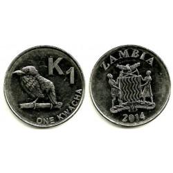 Zambia. 2014. 1 Kwacha (EBC)