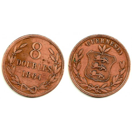 (7) Guernsey. 1864. 8 Doubles (MBC)