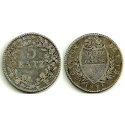 Suiza (Cantón de Vaud). 1841. 5 Batz (MBC)