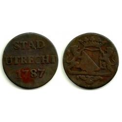 Países Bajos (Utrecht). 1787. 1 Duit (BC)