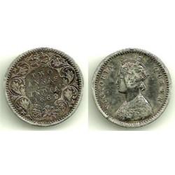 (469) India. 1862. 2 Annas (MBC) (Plata)