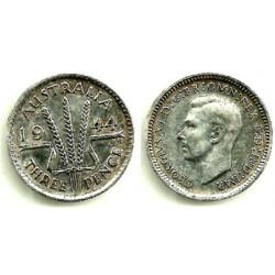 Australia. 1944. 3 Pence (MBC) (Plata)