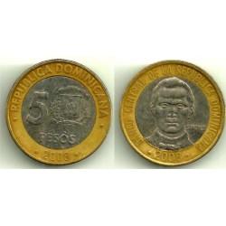 (89) República Dominicana. 2008. 5 Pesos (BC)