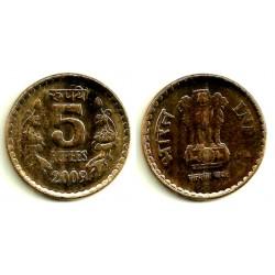 (373) India. 2009. 5 Rupee (EBC)