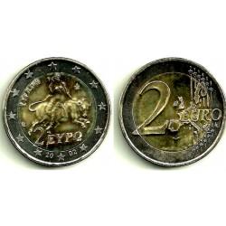 Grecia. 2002(S). 2 Euro (SC) Acuñación defectuosa