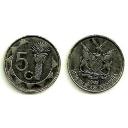 (1) Namibia. 2002. 5 Cents (MBC+)