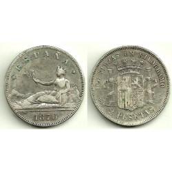 1870*(18-74) 2 Pesetas (BC)