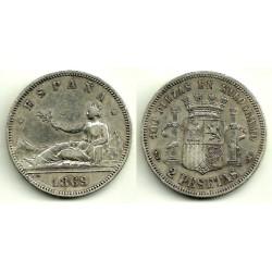 1869*(18-69) 2 Pesetas (MBC)