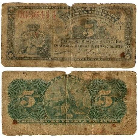 Billete de 5 Centavos de 1896 (RC).