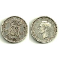 (852) Gran Bretaña. 1945. 6 Pence (BC+)