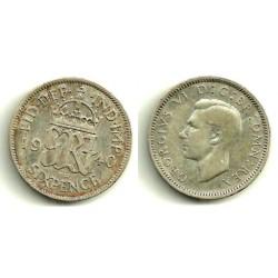 (852) Gran Bretaña. 1940. 6 Pence (BC+) (Plata)