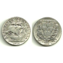 (580) Portugal. 1945. 2½ Escudos (MBC-) (Plata)
