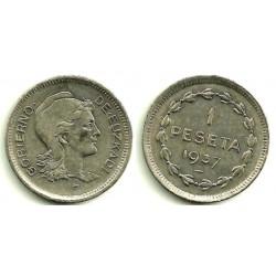 1937 1 Peseta (SC)