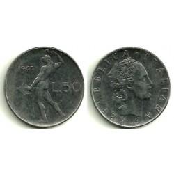 (95.1) Italia. 1963(R). 50 Lira (MBC)