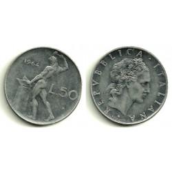 (95.1) Italia. 1964(R). 50 Lira (MBC)