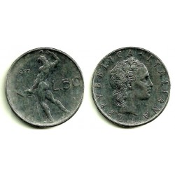 (95.1) Italia. 1977(R). 50 Lira (MBC)
