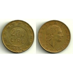 (105) Italia. 1987. 200 Lira (BC)