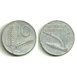 (93) Italia. 1954(R). 10 Lira (BC)