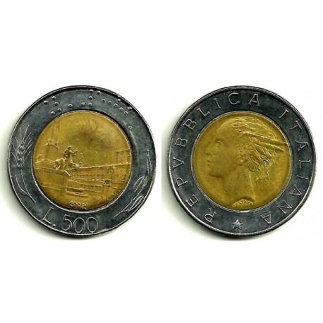 (111) Italia. 1992(R). 500 Lira (MBC)