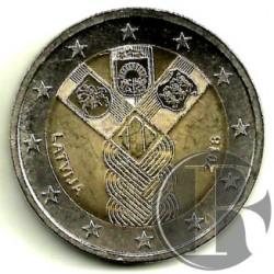 Letonia 2018 2 Euro (SC)