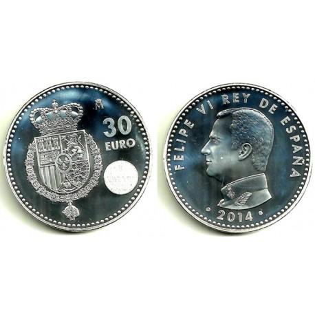 España 2014 30 Euro (SC) (Plata)