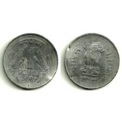 (92.2) India. 2001. 1 Rupee (RC)