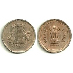 (79.1) India. 1987. 1 Rupee (MBC)