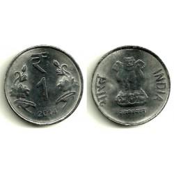 (394) India. 2014. 1 Rupee (MBC)