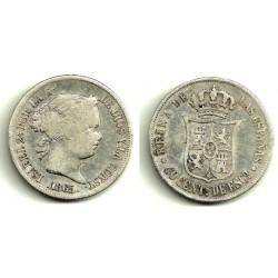 [1865] 40 Céntimos de Escudo (MBC) Ceca de Madrid